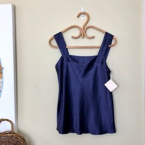 Lord & Taylor 90's NWT Navy Lingerie Cami Slip top